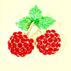 🍒NWOT Gorgeous Cherries Brooch! 🍒